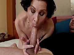 Brunette, Granny, Mature, Old and Young