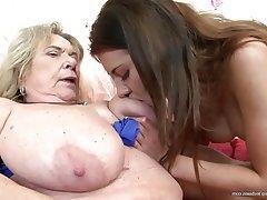 Lesbian, Granny, Mature, MILF