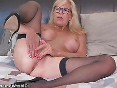 Mature, Stockings, MILF, Mature