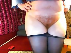 Webcam, Hairy, Pantyhose, Mature