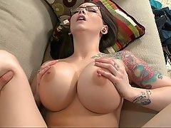 Big Tits, Brunette, Cumshot, Fucking