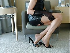 Stockings, Cuckold, Foot Fetish, Masturbation
